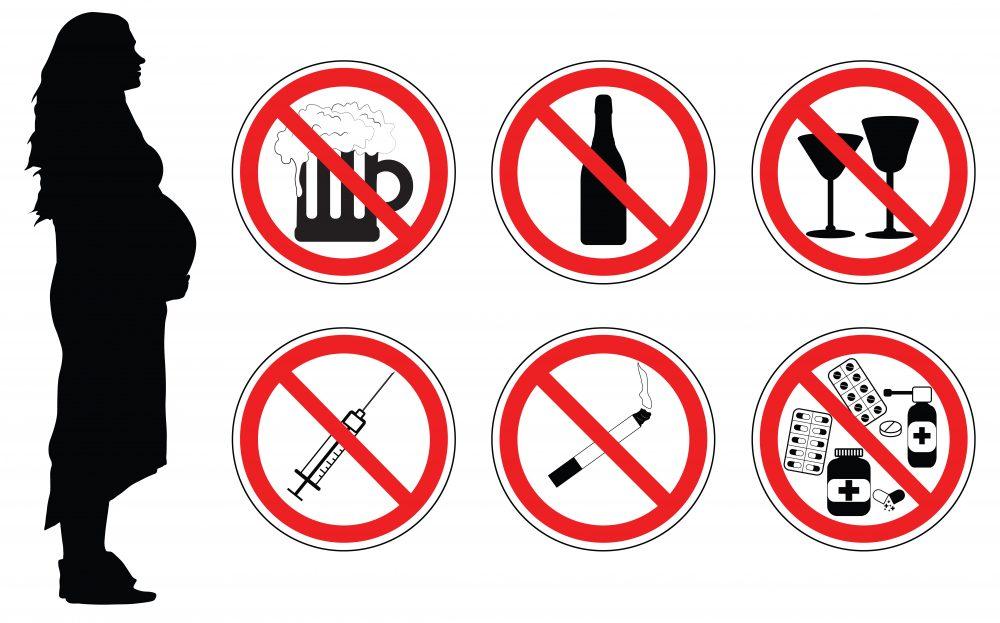 Alcoolul, drogurile, tutunul, medicamentele sunt dăunătoare în sarcină